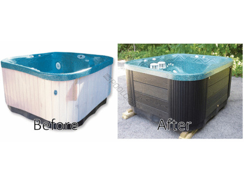 Restor-A-Spa, hot tub, spa, Cabinet Replacement Kit, confer, plastics, Deep Gray, Black, Espresso, RASK-ESP, RASK-BLK, RASK-ESP