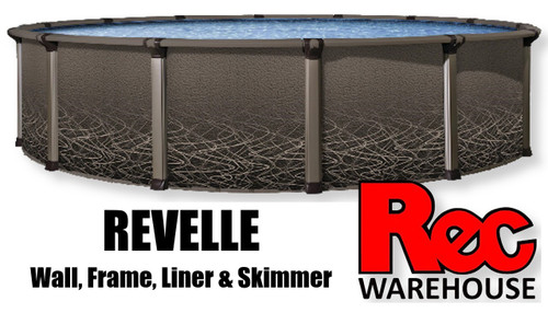 """52"""" Revelle  Resin Replacement Pool (Wall, Frame, Liner & Skimmer) Multiple Sizes Available - $1,999.99 - $4,999.99"""