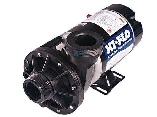 1-HP 1-Speed Waterway Hi Flo/Baquapure 115V 48-Frame Side Discharge Pump,111824