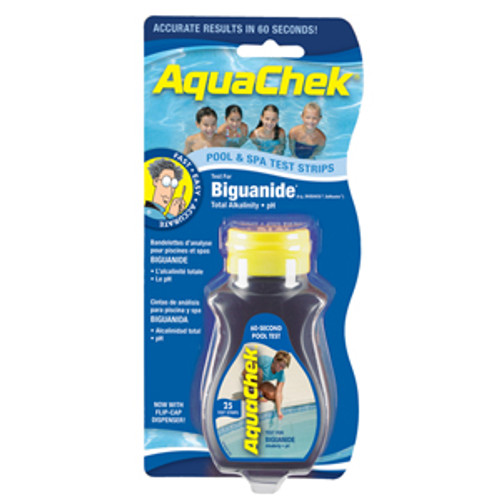 561625, AquaChek Blue Biguanide Pool 25ct Test Strips
