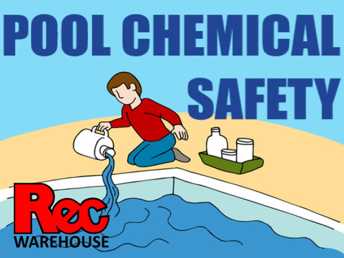 Safe and proper storage and usage of common pool chemicals