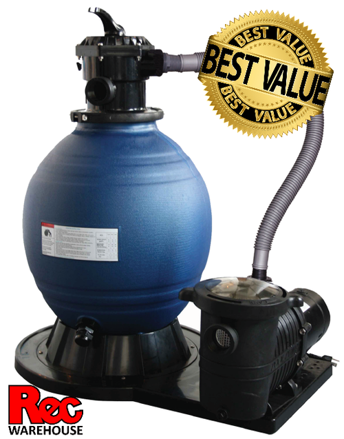 "18"" Super C18"" Super Clear 3/4 HP Sand Filter  - Perfect for Pools Up to 13K Gallons   lear 3/4 HP Sand Filter"