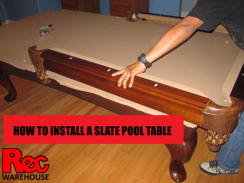 How to install a slate pool table