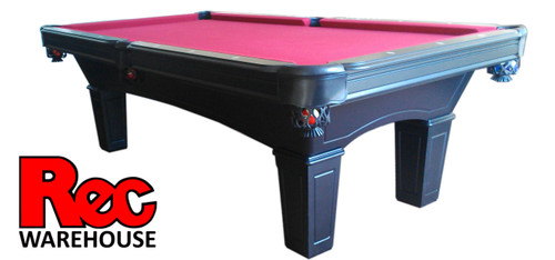 "8' Jasper Black 1"" Slate Pool Table with Silver  Accessory Kit & Professional Balls"