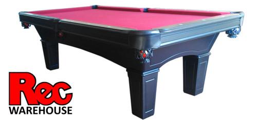 "8' Jasper Black 1"" Slate Pool Table with Silver  Accessory Kit & Professional Balls"
