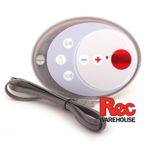 6600-633 Sundance Spaside Control, 680/780, 5-Button, LED, Up-Down-Pump1-Light-Pump2, w/Phone Style Plug