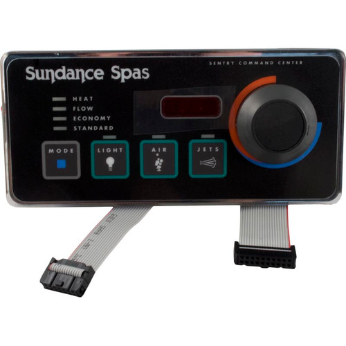 6600-693, SD6600-693, Sundance, top side, Spaside, Control,  600/650, 4-Button, LED, Mode-Light-Blower-Jets-Knob, spa, hot tub