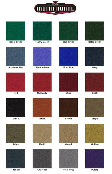 Teflon Coated Billiard Cloth