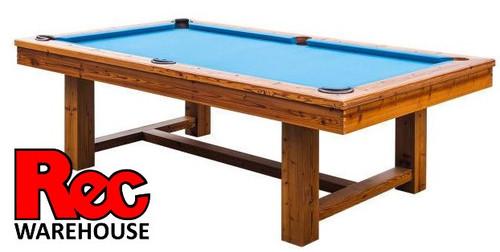 "8' Louis Oak 1"" Slate Pool Table with Premium Accessory Kit"