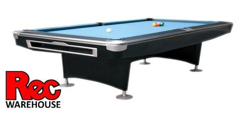 "7', 8', 9' President V Pro Black 1"" Slate Pool Table"