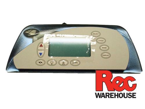 6600-865 Sundance Spaside Control, 850, 10-Button, LCD, 1-Pump
