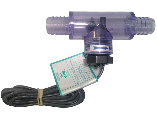 "6560-857 Sundance Flow Switch, 3/4"" MPT, .5 Amp, 10 Watt, 1999-Present w/ Tee, Clear"