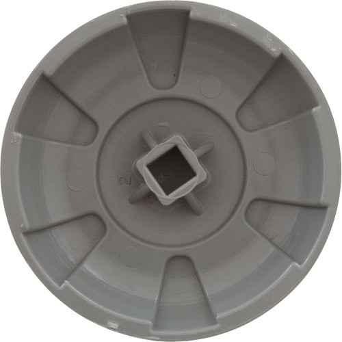 "Knob - 6 Spoke Design 1"" Diverter Valve - Gray"