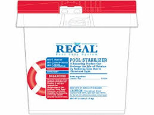 REGAL 8 lb BUCKET POOL STABILIZER, 100% cyanuric acid, FREE SHIPPING