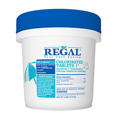 "REGAL, 50, lb,1"", CHLORINATED, TABLETS, FREE SHIPPING, RGL-50-1150, 035186202306, sanitizer, 99%, Trichloro-s-triazinetrione, stabilized, concentrated, .5oz, in the swim, bioguard"