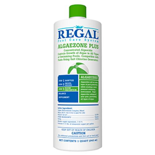 REGAL. QT. ALGAEZONE. PLUS, COPPER. BASED. ALGAECIDE, FREE SHIPPING chelated, algae, black, 50-2670, swimming pool, RGL-50-2670