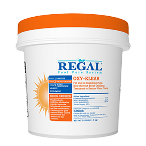 Regal, Biolab, Bioguard,  24lb, BUCKET, 4lb, 12lb, 1lb, Bag, OXY-KLEAR, Non-Chlorine, Shock, swimming, pool, Treatment, FREE SHIPPING, super, ultra, peroxymonosulphate, Pentapotassium, lithium, 25lb, 10lb, 15lb, 50-1924, 50-1925, hth, biolag, bioguard
