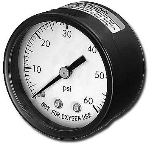 "2"". X. 1/4"", .25"",  Back, Mount, Pressure, Gauge, 0-60 PSI, FREE SHIPPING, superpro, harvard, waterway"