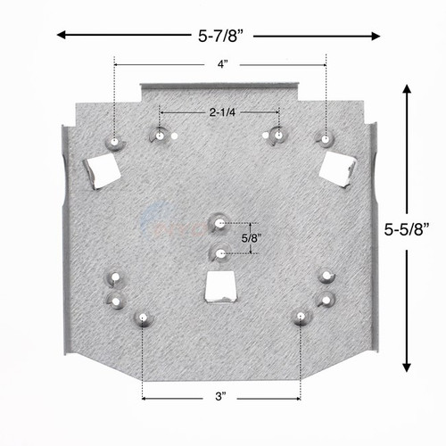 """6 PACK, 29915, Wilbar, Oracle, Serena, 7"""", Steel, Top, Plate, FREE SHIPPING, above, ground, swimming, pool"""