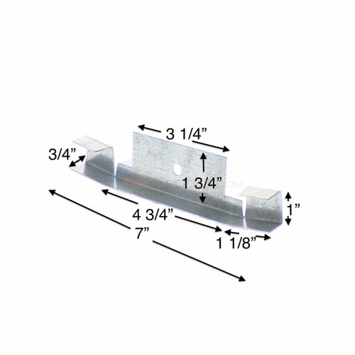 6 PACK, 16542, Wilbar, Connector, Bottom,  Rail, Straigh,t Side, FREE SHIPPING, oval, above, ground, swimming, pool