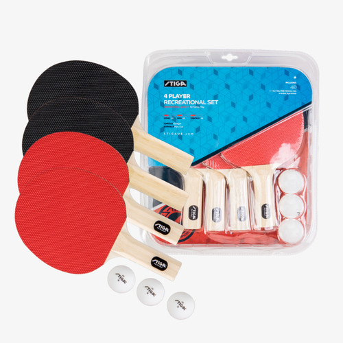 Stiga®, Classic,4, Player, Table, Tennis, Ping, Pong, Racket, Balls, Set, FREE SHIPPING