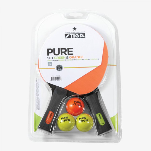 Stiga, Pure, Players, Set, Table, Tennis, Ping, Pong, Paddle, Raquet, kit, set, FREE SHIPPING, T159401