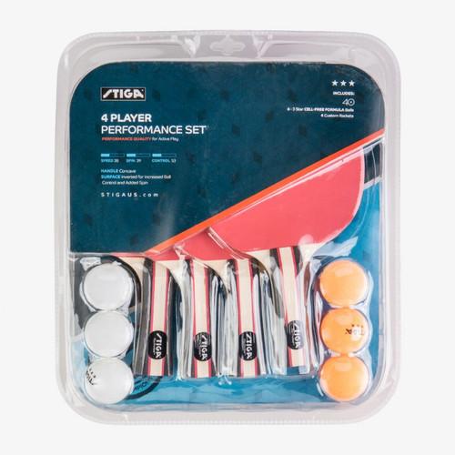 Stiga®, Performance, 4-Player, Table, Tennis, ping, pong, kit,  Set, FREE SHIPPING, T1365