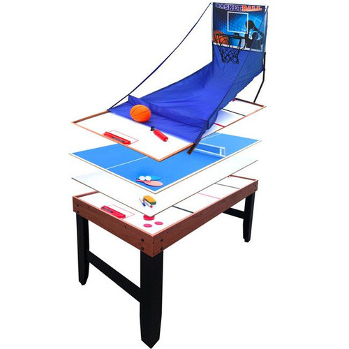 NG1016M, Accelerator, 4 in 1, Multi, Game, Table, Basketball, Air Hockey, Table Tennis, Ping Pong, Dry Erase Board, FREE SHIPPING, Hathaway, blue Wave