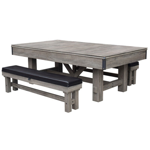 BG50348, Combo, 7',  Logan, Rustic, Pool Table, Table Tennis, ping pong, Dining, Benches, FREE SHIPPING, commercial, AH-106, Blue Wave. Hathaway