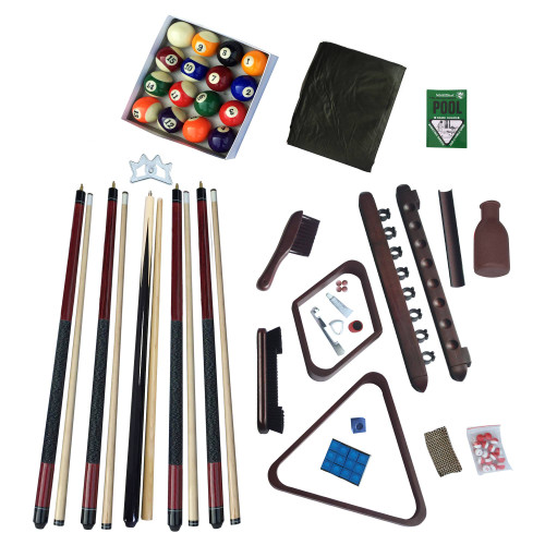 Deluxe, Billiard, Accessory, Kit, 2, Finish Options, FREE SHIPPING, NG2540M, NG2540W, Walnut, Mahogany, ball, cues, brushed, blue wave