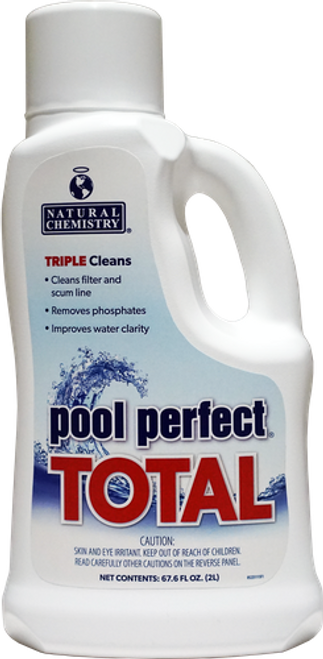 15225NCM, Pool Perfect®Total™, natural chemistry, FREE SHIPPING, Natural, enzymes, clarifier, phosphate contamination