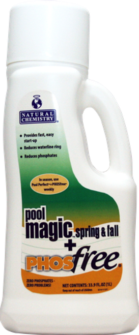 15141NCM, Natural Chemistry,  Pool Magic®, +, Phosfree®, FREE SHIPPING, swimming, pool, fall, winter, closing, 1Litre, SMARTZyme, technology
