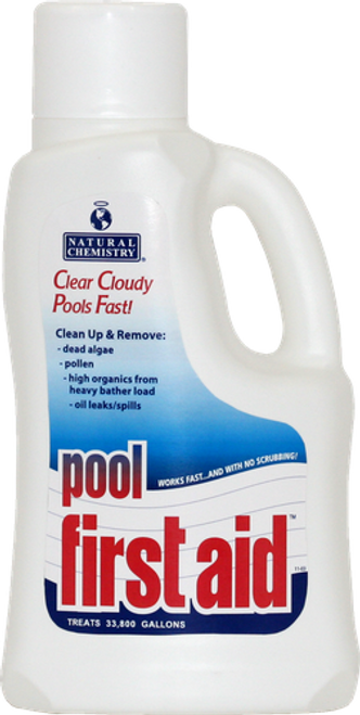 13122NCM, Pool First Aid™, by, Natural Chemistry, swimming pool, FREE SHIPPING, cloudy water, pollen, SMARTZyme™ technology, clean pool water, clarifier, dead algae, fast working