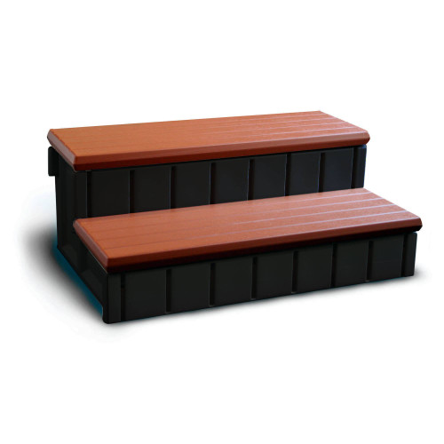 """NP5651, leisure accent, confer, blue wave, 36"""",  Wide,  redwood, hot tub, Spa, Step, Storage, FREE SHIPPING"""