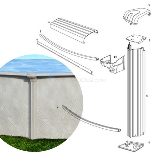 """7"""" Allure, Steel, Frame 52"""" Wall, Frame, Liner, Skimmer, Multiple Sizes Available, FREE SHIPPING"""
