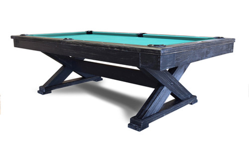 """Hans, Delta, 8' 1"""", Oakville, Rustic, Slate, Pool Table, 002-003O, installed, professional. installation, commercial"""