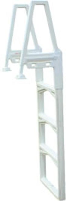 CON63552, 63552, Confer Plastics, inpool, ladder, resin, plastic, Main access, ocean blue, above ground, swimming, pool
