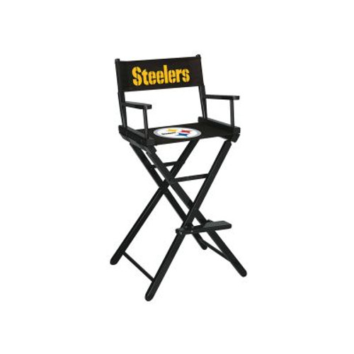 100-1004, Pittsburgh, Steelers, NFL, Bar, Height, Directors Chair, FREE SHIPPING, Imperial
