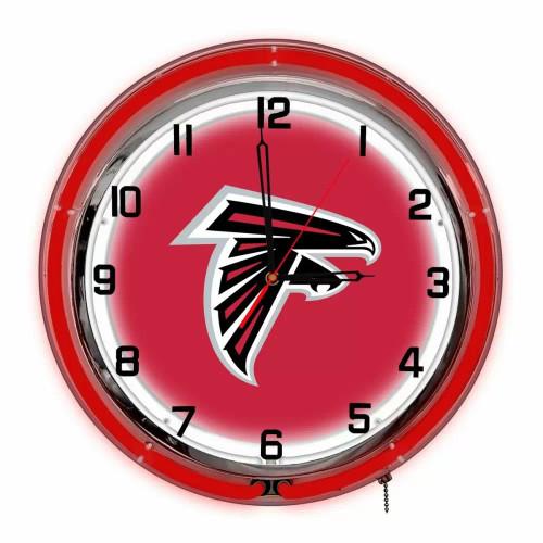 "656-1030, 18"", 18in, Atlanta, Atl, NFL,  Falcons, Neon, Clock, FREE SHIPPING"