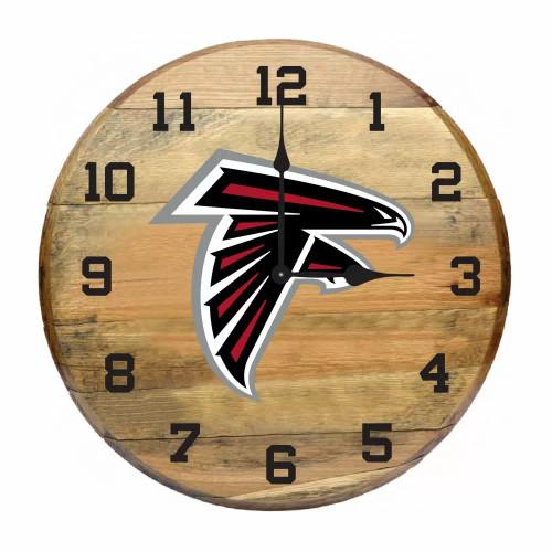 """630-1030, Atl, Atlanta, Falcons, 21"""" Clock, Authentic, Oak, Bourban, Barrell, NFL"""