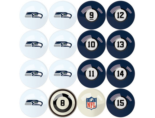 626-1024, Seattle, Sea, Seahawks, NFL,  Billiard, Pool,  Balls, Numbered, with Numbers, FREE SHIPPING