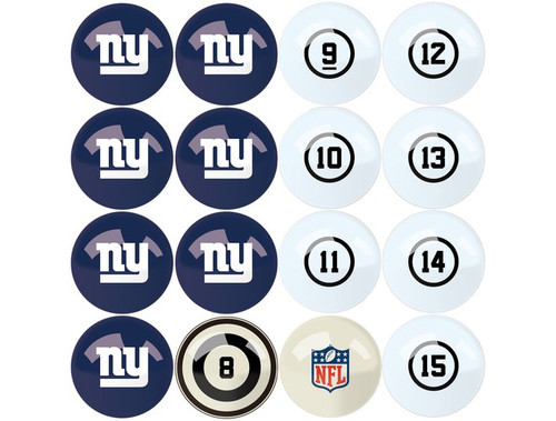 626-1013, New York, NY,  Giants, NFL,  Billiard, Pool,  Balls, Numbered, with Numbers, FREE SHIPPING