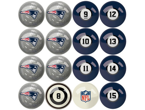 626-1011, New England, NE, Patriots, NFL,  Billiard, Pool,  Balls, Numbered, with Numbers, FREE SHIPPING