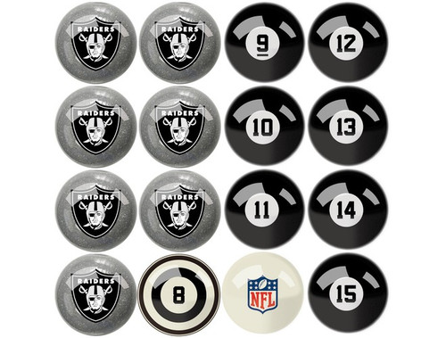 626-1010, Las Vegas, LV, Raiders, NFL,  Billiard, Pool,  Balls, Numbered, with Numbers, FREE SHIPPING