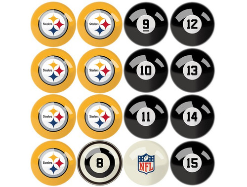 626-1004, Pittsburg, Steelers, NFL,  Billiard, Pool,  Balls, Numbered, with Numbers, FREE SHIPPING
