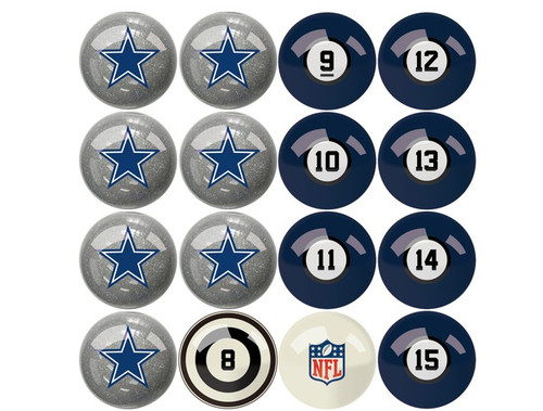 626-1002, Dallas, Cowboys, NFL,  Billiard, Pool,  Balls, Numbered, with Numbers, FREE SHIPPING