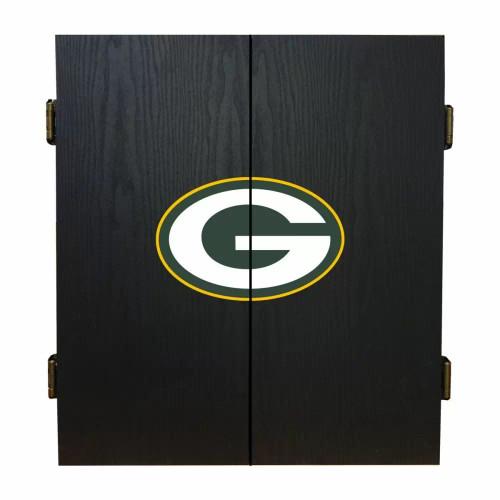 624-1001, GB, Green Bay, Packers, Fan's Choice, Dartboard, Cabinet, Darts, Flights, Set, FREE SHIPPING,