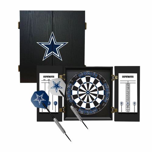 624-1002, Dallas, Cowboys, Fan's Choice, Dartboard, Cabinet, Darts, Flights, Set, FREE SHIPPING,