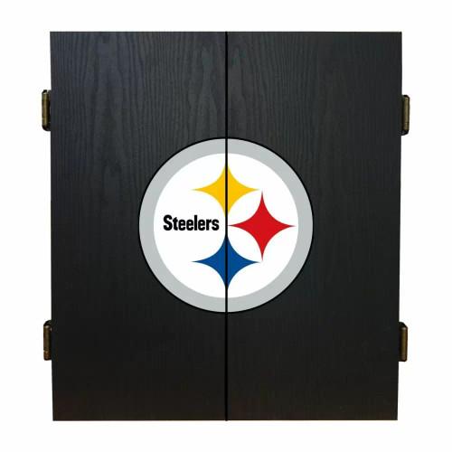 624-1004, Pittsburgh, Steelers, Fan's Choice, Dartboard, Cabinet, Darts, Flights, Set, FREE SHIPPING,