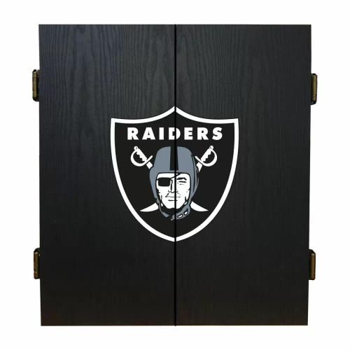 624-1010, LV, Las Vegas, Raiders, Fan's Choice, Dartboard, Cabinet, Darts, Flights, Set, FREE SHIPPING,